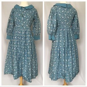 Vintage Laura Ashley Floral Prairie Dress